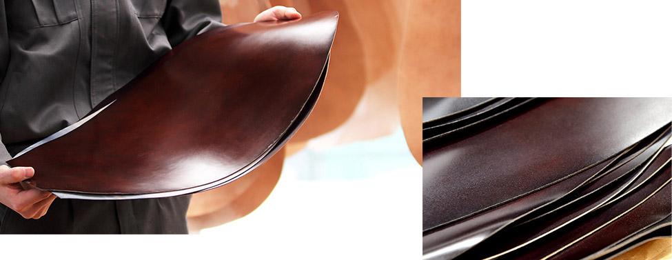 コードバンの原皮となるのは、馬の臀部の革です。