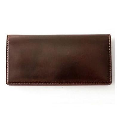 革財布キプリスのホーウィンシェルコードバン ファスナー付通しマチ長財布