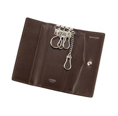 革財布キプリスのコードバン&リンピッドカーフ キーケース