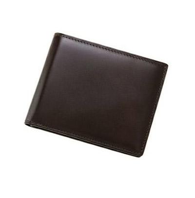革財布キプリスのコードバン&リンピッドカーフ カード札入れ