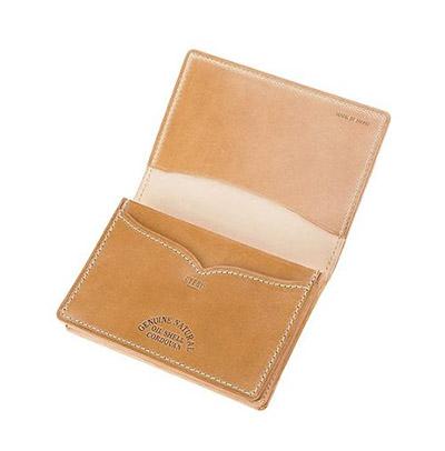 革財布キプリスのオイルシェルコードバンナチュラルコレクション 通しマチ名刺入れ
