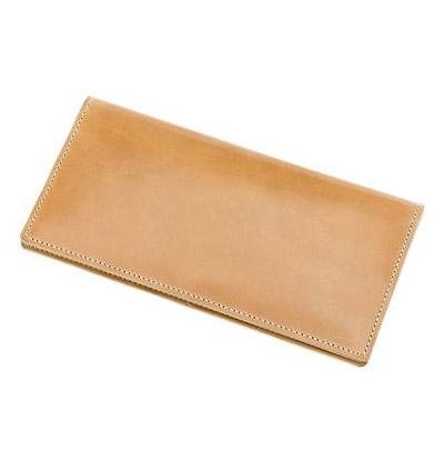 革財布キプリスのオイルシェルコードバンナチュラルコレクション マチなし長財布