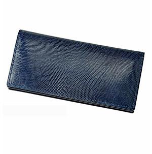 革財布キプリスのリザード 小銭入れ付き通しマチ長財布