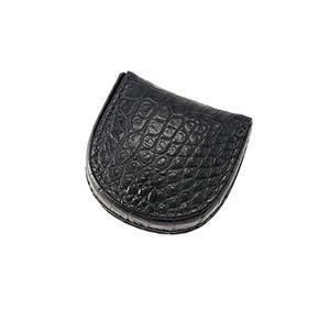 革財布キプリスのマットクロコダイル 馬蹄型小銭入れ