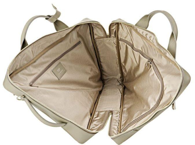 キプリスの3wayビジネスバッグ ぐるりと大きく開くダブルファスナー