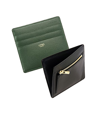 ミニ財布・コンパクト財布は革小物・革財布のCYPRIS ボックスカーフのマネーフラップ