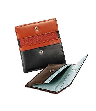 ミニ財布・コンパクト財布は革小物・革財布のCYPRIS ポケウォレ-BRのマネーフラップ