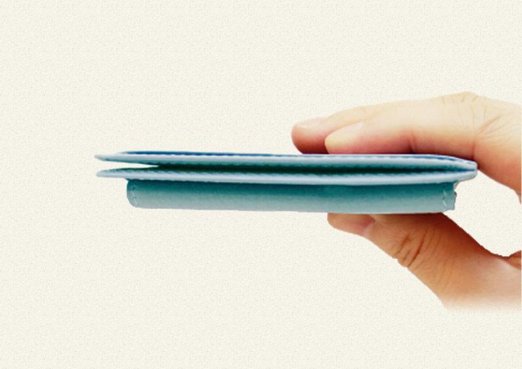 ミニ財布・コンパクト財布は革小物・革財布のCYPRIS コンパクトマネーフラップ|ポケウォレ抗菌財布
