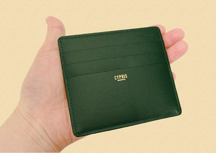 ミニ財布・コンパクト財布は革小物・革財布のCYPRIS 小銭入れ付きカードケース(マネーフラップ)|ボックスカーフ