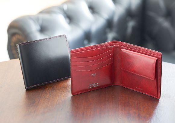 革小物・革財布のCYPRIS メンズ二つ折り財布