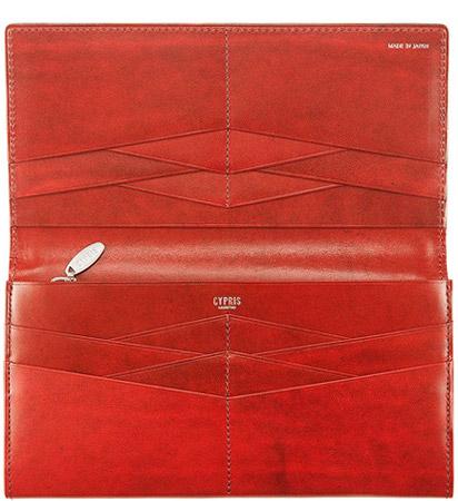 革財布・革製品・グラデーション財布の漆シリーズの内側