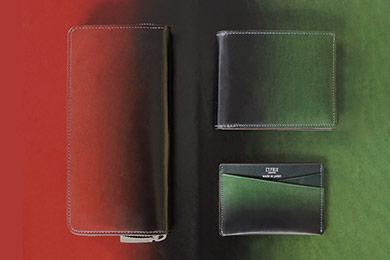 革財布・革製品・グラデーション財布の漆シリーズ 商品写真