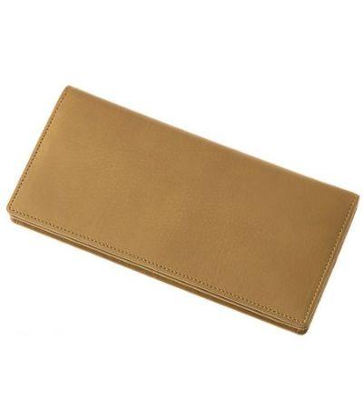 ファスナー付通しマチ長財布|レーニアカーフ |チャ