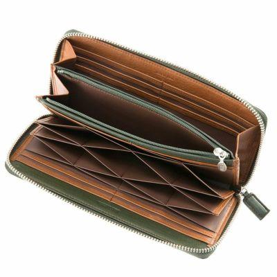 ラウンドファスナーハニーセル長財布の内側