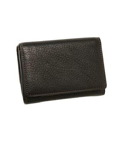 三つ折り財布 シルキーキップ ブラック