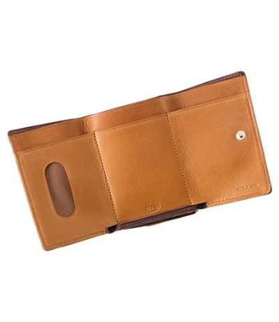 三つ折り財布 シルキーキップ チョコ