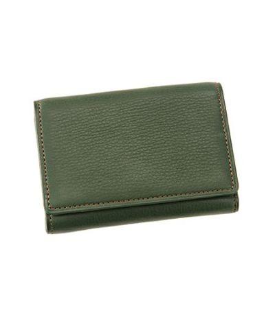 三つ折り財布 シルキーキップ グリーン