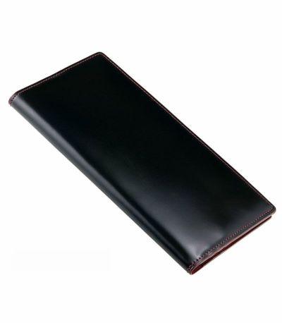 マチなし長財布|コードバン&シラサギレザー