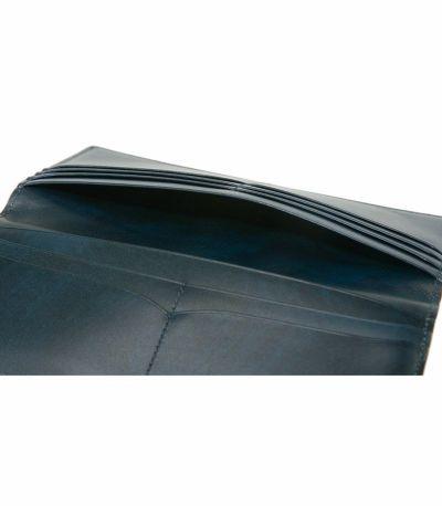 長財布(マチなし束入)|オイルシェルコードバン&シラサギレザー