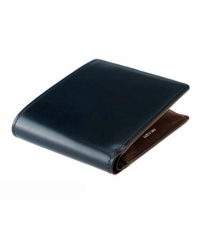 二つ折り財布(小銭入れ付き札入)|オイルシェルコードバン&シラサギレザー