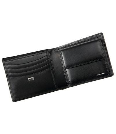 二つ折り財布(小銭入れ付き札入) リザード