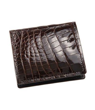 小銭入れ(BOX型)|艶クロコダイル&シラサギレザー