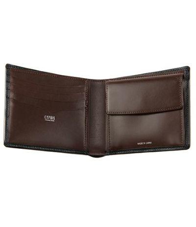 二つ折り財布(小銭入れ付き札入) ボックスカーフ&リンピッドカーフ