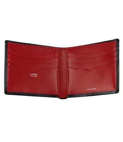 二つ折り財布(カード札入れ)|ボックスカーフ&リンピッドカーフ