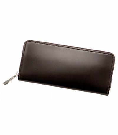 ハニーセル長財布(ラウンドファスナー束入)|オイルシェルコードバン&ヴァケッタレザー