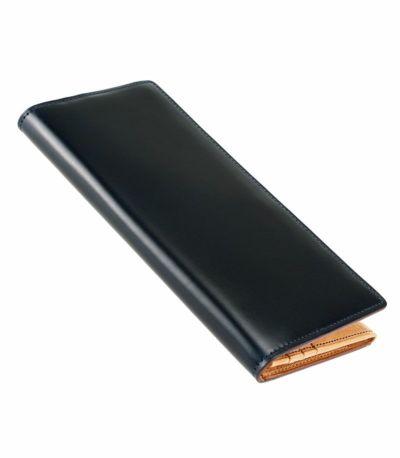 長財布(小銭入れ付きササマチ束入) オイルシェルコードバン&ヴァケッタレザー