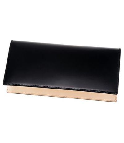 長財布(ササマチ束入) コードバン&ベジタブルタンニンレザー