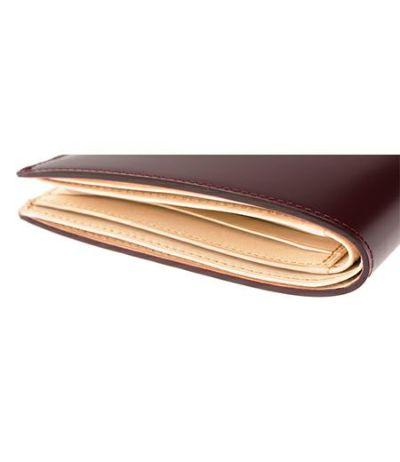 二つ折り財布(カード札入)|コードバン&ベジタブルタンニンレザー
