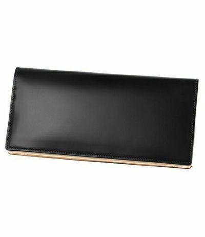 長財布(小銭入れ付き通しマチ束入)|コードバン&ベジタブルタンニンレザー