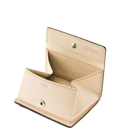 小銭入れ(BOX型) コードバン&ベジタブルタンニンレザー