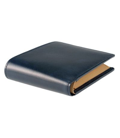 二つ折り財布(BOX小銭入れ付き札入)|シラサギレザー