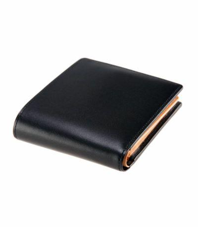 二つ折り財布(ベロ・小銭入れ付き札入) シラサギレザー