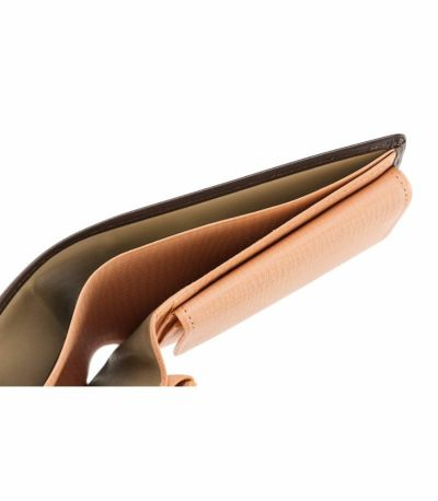 二つ折り財布(ベロ・小銭入れ付き札入)|シラサギレザー