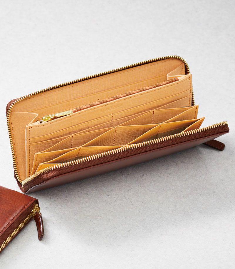 CYPRIS ラウンドファスナーハニーセル長財布 の内装画像