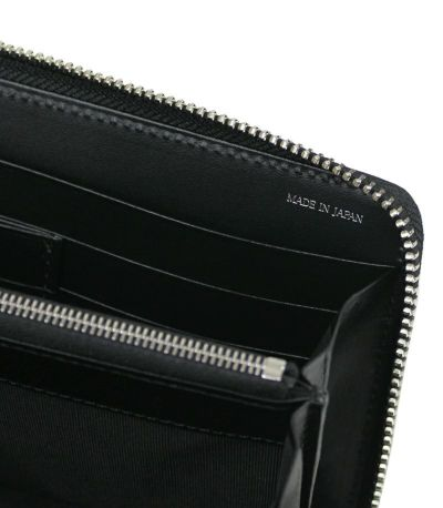 MonoMaxで紹介された革財布 ラウンドファスナー モバイルウォレット