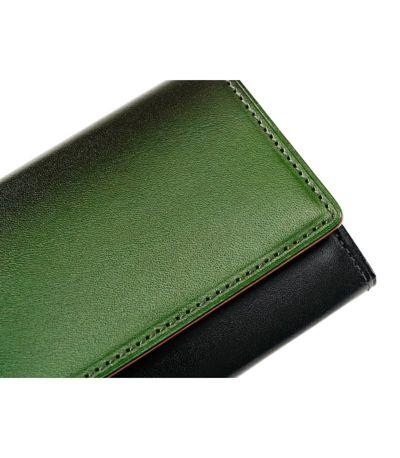 グラデーション財布,グラデーション革財布,漆(ウルシ)