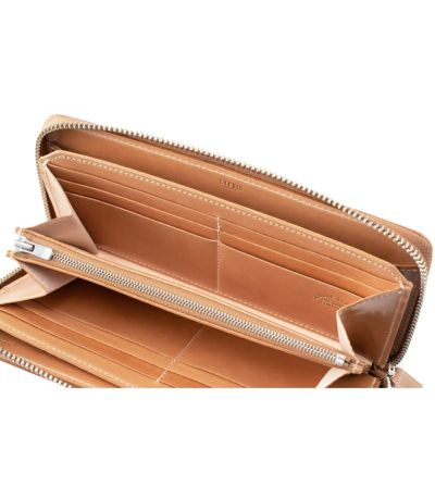 ラウンドファスナー長財布|オイルシェルコードバンナチュラルコレクション
